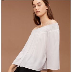 Aritzia Talula Marcilly Off the Shoulder Blouse